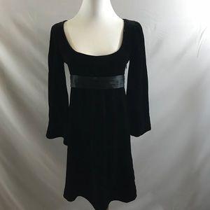 Diane Von Furstenberg velour empire waist dress